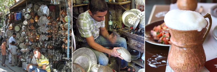 銅製のお盆・バクル